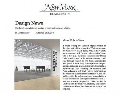 Elizabeth Jaeger in New York Design News