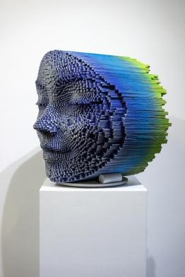 Gil Bruvel's Emerging, Sculptural Faces
