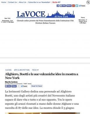 Alighiero Boetti e le sue vulcaniche idee in mostra a New York
