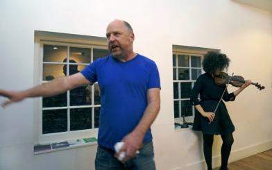 Tim Etchells and Aisha Orazbayeva Perform in London, Friday November 11