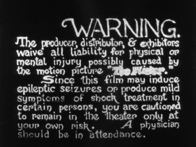Screening: Tony Conrad: Completely in the Present & The Flicker