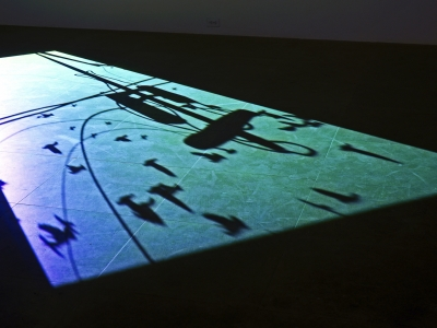 Paul Chan on view in