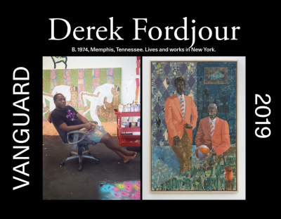 "Derek Fordjour included in Artsy Vanguard's ""Artists to Know Right Now"""