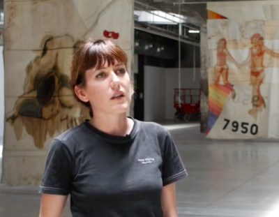 """Claire Tabouret, """"If Only the Sea Could Sleep"""" exhibition walkthrough at HAB Galerie"""