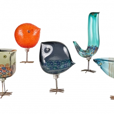 Set of Five Pulcino Birds