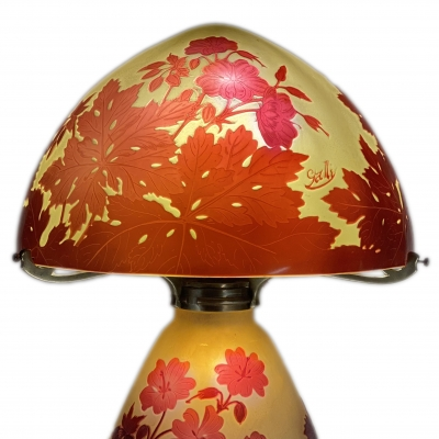 Table Lamp by, Emile Gallé