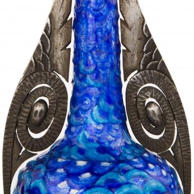 Wrought Iron Mounted Geometric Vase