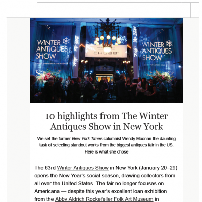 10 Highlights from The Winter Antiques Show in New York