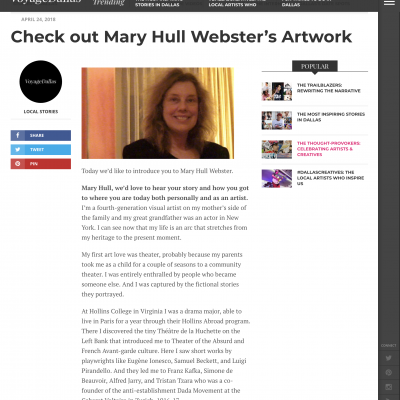Voyage Dallas: Mary Hull Webster Interview