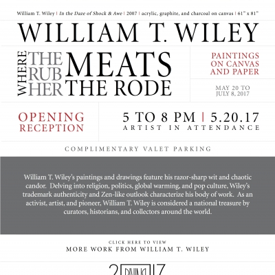 Where the Rub Her Meats the Rode [Exhibition Invitation]