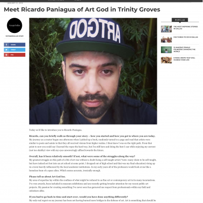 Voyage Dallas: Ricardo Paniagua Interview