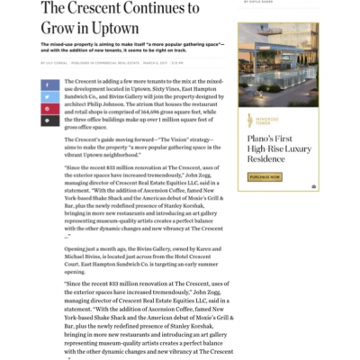 DMagazine: Crescent Real Estate