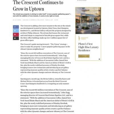 DMagazine: Crescent Real Estate