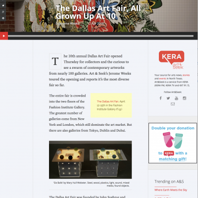 KERA: The Dallas Art Fair, All Grown Up At 10