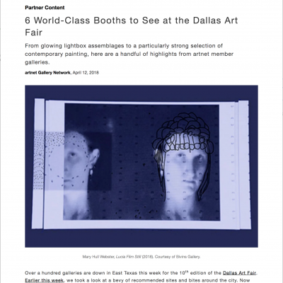 artnet: 6 World-Class Booths to See at the Dallas Art Fair