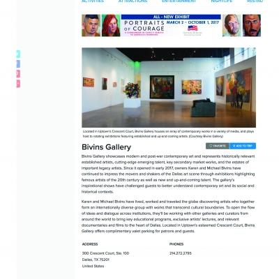 Where Magazine: Bivins Gallery