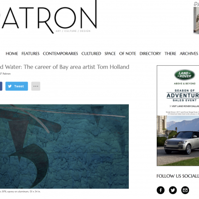 Birds and Water: The Career of Bay Area Artist Tom Holland [Patron Magazine interview]