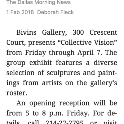 Galleries will host Dallas Gallery Day [Dallas Morning News]