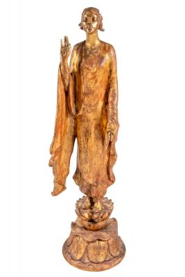 """""""Chinoise"""" by Gertrude Vanderbilt Whitney Gilded Plaster"""