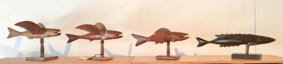 "Pitcairn Island ""Mutiny on the Bounty"" Carved Flying Fish"