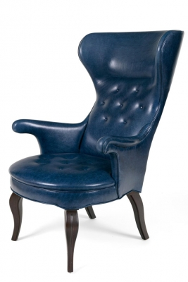 "Scandinavian Modern Style ""Fritz"" Wingback Armchair"