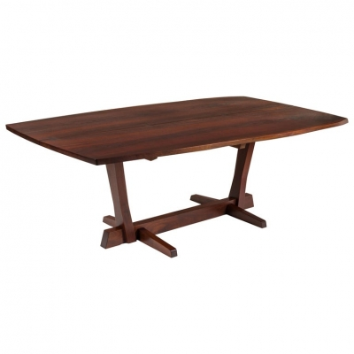 George Nakashima Fine Walnut & Rosewood Conoid Dining Room Table