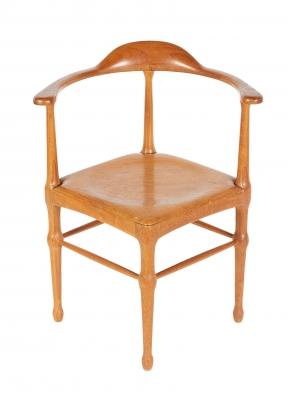 Vintage Model of Danish Mid-Century Corner Chair