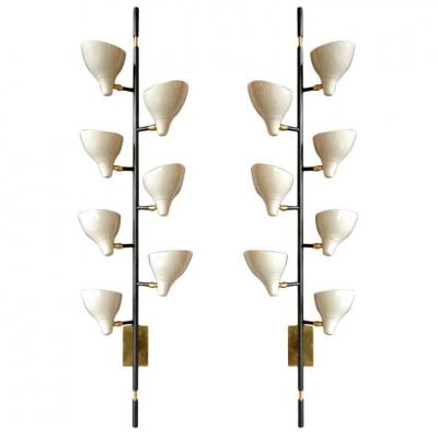 Sarfatti Style Large Multi-Shade Sconces