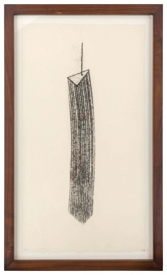 Harry Bertoia Framed Monotype on Rice Paper