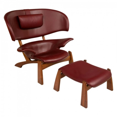 """Viking"" Lounge Chair & Ottoman"