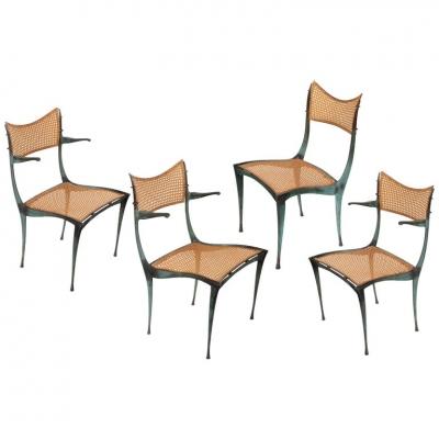"""""""Gazelle' Chairs in Bronze by Dan Johnson"""
