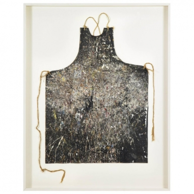 Adja Yunkers Artist's Apron, Mounted and Framed