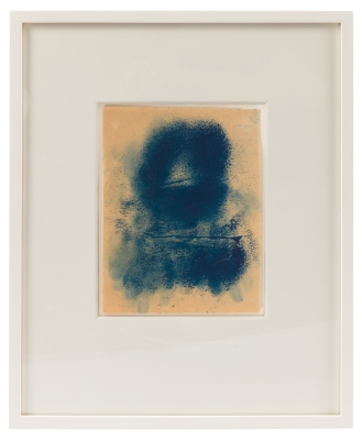 """Adja Yunkers """"Icon XX"""" Framed Oil on Paper"""