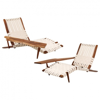 "George Nakashima ""Long Chairs"""