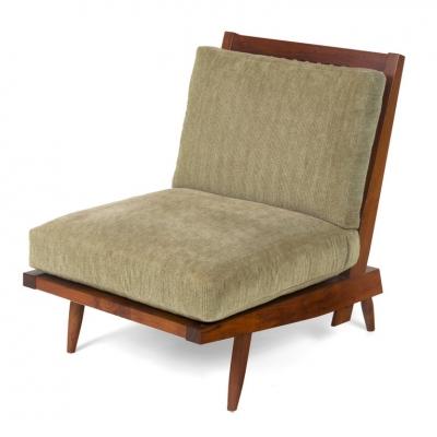 """George Nakashima Walnut """"Cushion Chair"""""""