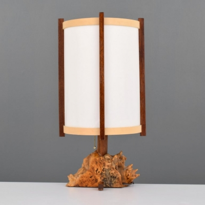 George Nakashima Buckeye Burl & Parchment Table Lamp