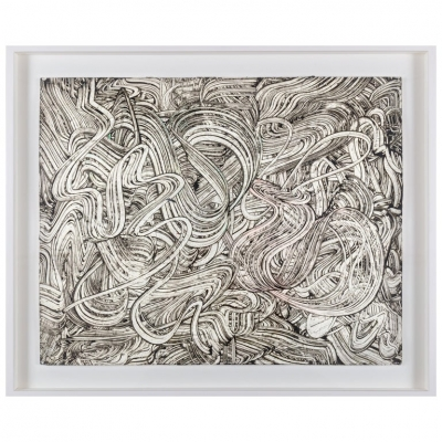 Paul Jansen Black & White Line Drawing on Paper