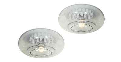 Carlo Nason for Leucos Hand Blown Murano Glass Sconces or Ceiling Fixtures