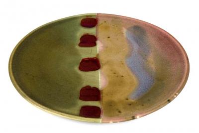 Signed Hand Thrown Ceramic Platter