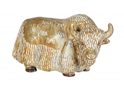 Stoneware Water Buffalo by Gunnar Nyland for Rorstrand