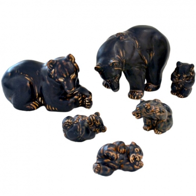 Bear Sculptures by Knud Kyhn for Royal Copenhagen