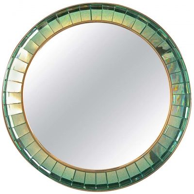 Handcut Crystal Glass Mirror by Ghiro Studios