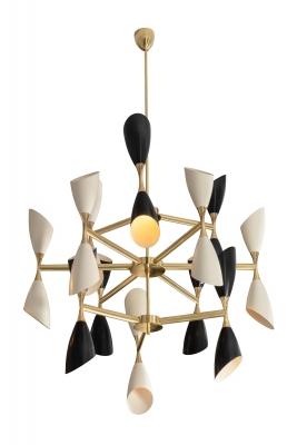 Italian Mid-century Style Chandelier