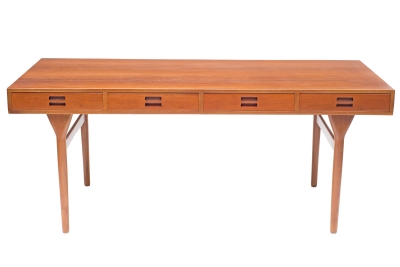 Nanna Ditzel & Jorgen Ditzel Teak Desk with Four Drawers