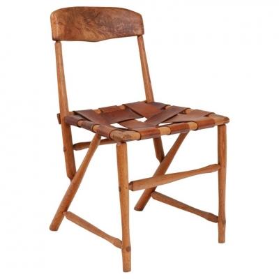 "Wharton Esherick Ash, Hickory & Leather ""Hammer Handle"" Chair"