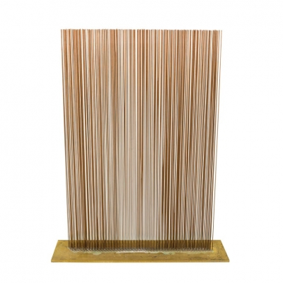 Val Bertoia Linear Four-Row Copper and Brass Sonambient Sculpture
