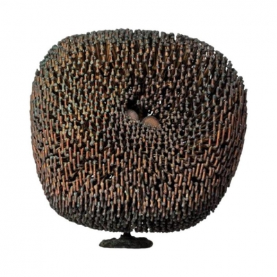 Harry Bertoia Bush Form Patinated Copper and Bronze Sculpture
