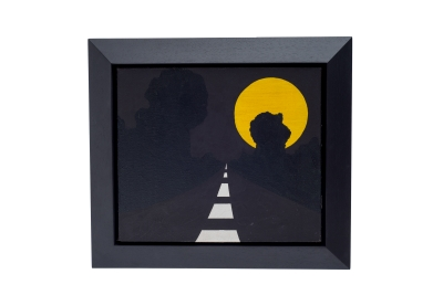 "Allan D'Arcangelo Acrylic on Canvas Painting ""Moon"" Signed En Verso"