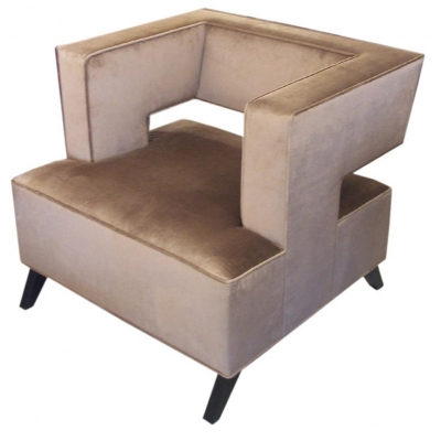 """Cubist"" Lounge Chair by Lost City Arts"