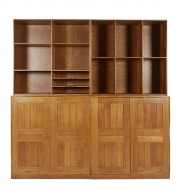 Rare Modular Bookcase & Cabinets by Mogens Koch